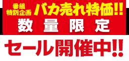 番組特別企画 バカ売れ特価!! 数量限定セール開催中!!
