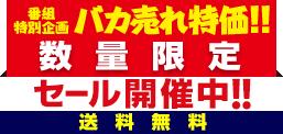 番組特別企画 バカ売れ特価!! 数量限定セール開催中!! 送料無料