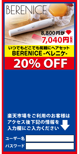 いつでもどこでも気軽にヘアセット BERENICE-ベレニケ-【20%OFF】