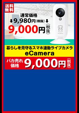 暮らしを見守るスマホ連動ライブカメラ eCamera バカ売れ価格 9,000円(税抜)